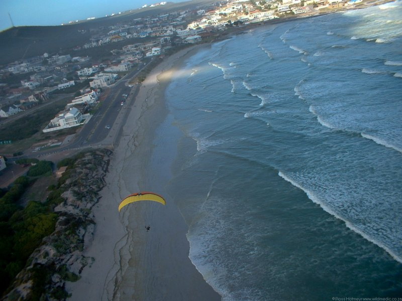 On my downwind leg on approach to landing at Yzerfontein.  Photo: Hannes Jansen