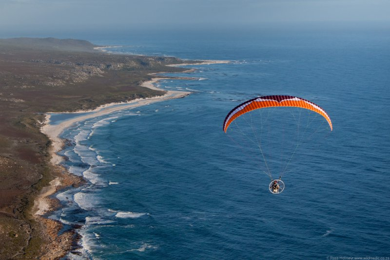 Neil flying past Cape Point Nature Reserve