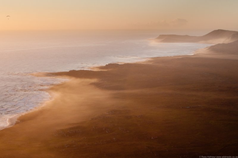Sunset mists over Cape Point