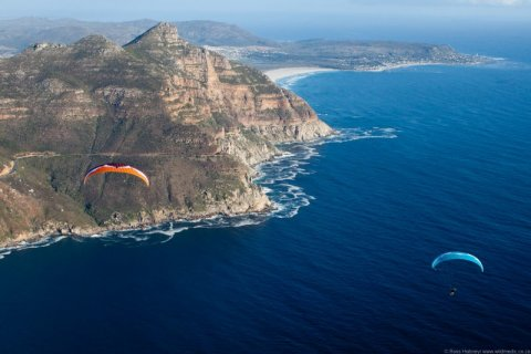 Neil & Ant over Hout Bay