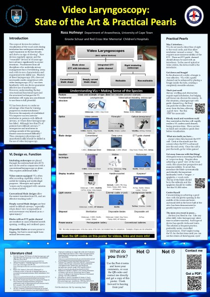 Videolaryngoscopy - State of the Art and Practical Pearls (Poster for EMSSA 2013)