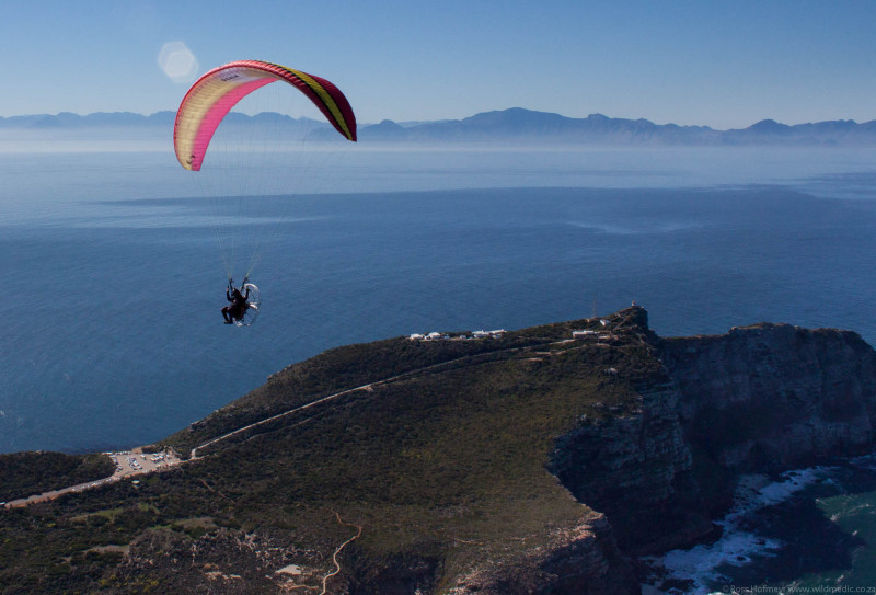 MDK at 2000' over Cape Point with False Bay in the background