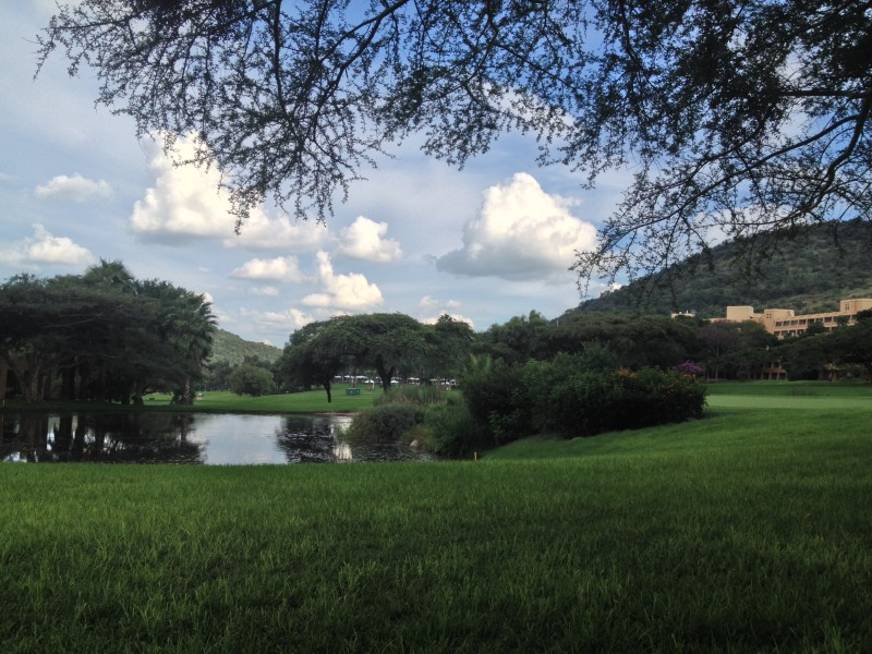 A beautiful afternoon on the grounds of Sun City, South Africa