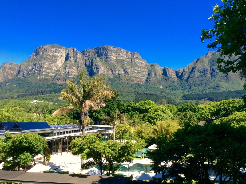 Eastern slopes of Table Mountain from the venue.